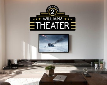 Home Theater Decor, Home Theater, Movie Theater Decor, Home Theater Decor,  Personalized