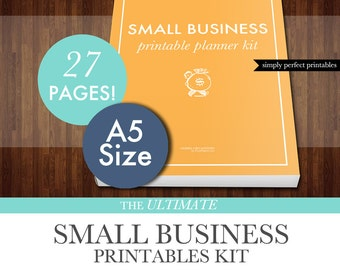 Small Business Planner Printables Kit - PDF - A5 Size - Instant Download