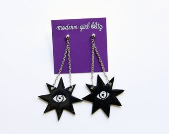 All Seeing Star Dangle Earrings
