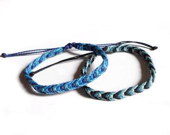Friendship bracelet macrame, knotted bracelet, thread bracelet women, beach bracelet, surfer bracelet, woven bracelet, bff gift bracelet men