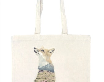 Fox Tote Bag - Faunascapes by WhatWeDo