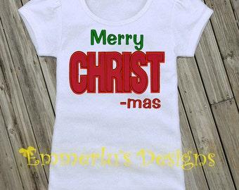 Merry CHRIST-mas Shirt or Bodysuit