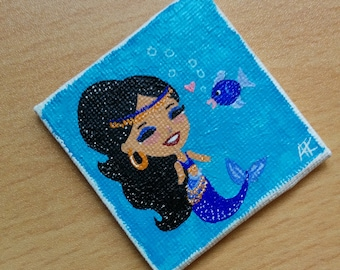 Love At First Sight mermaid mini painting