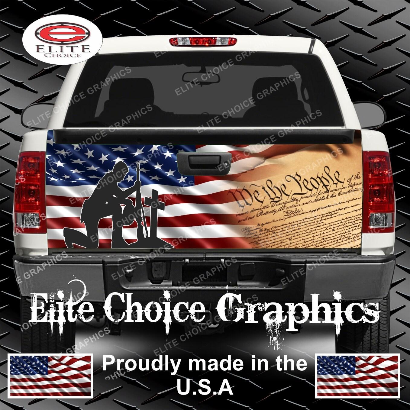 Patriotic constitution flag truck tailgate wrap vinyl graphic zoom arubaitofo Image collections