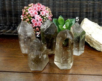 Beautiful Smokey Quartz Polished Points- Smoky Quartz  - You Choose - (RK102B4-03)