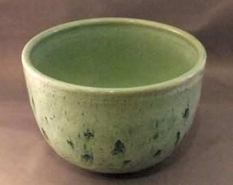 Green Variation Bowl A1B, serving bowl, wheel thrown, hand made, stoneware bowl