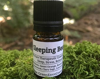 Sleeping Beauty- sleep essential oil blend, insomnia, stress, relaxation, bedtime blend,