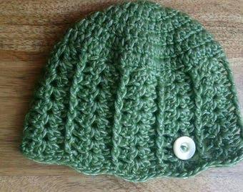 Newborn crocheted beanie