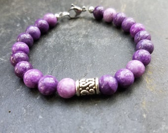 Women's Purple Quartzite Stone Bracelet