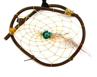 NATURAL DREAM CATCHER - Grapevine Dream Catcher - Turtle Dreamcatcher