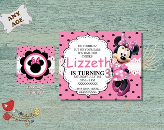 Minnie Mouse, Invitation Printable, Birthday invitation, Kids Party, Personalized Invite Creative