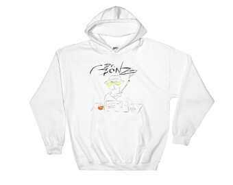 Dr Gonzo Hunter S Thompson Smoking Abstract Gonz Hoodie Sweater, Vintage Gonzo Hoodie, Hunter S Thompson Sweater