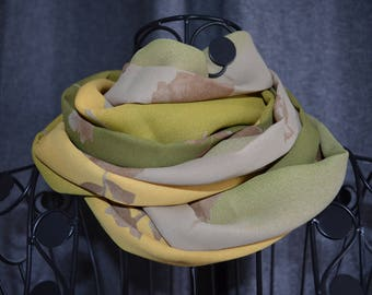 snood of cotton and viscose small flowers