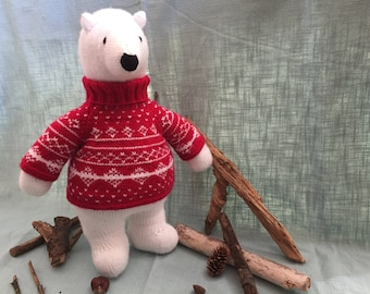 PDF Knitting Pattern - Polar Bear