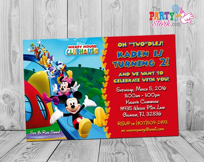 Mickey mouse clubhouse invitations printable personalized zoom filmwisefo Gallery