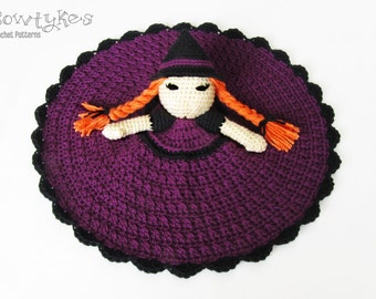 Witch Lovey CROCHET PATTERN instant download - blankey, blankie, security blanket