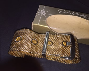 Vintage Sarah Coventry Gold Mesh Belt