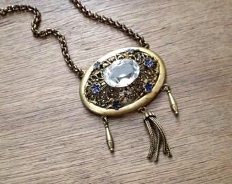 SALE-Pretty Ornate Brass Pendant