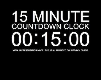 15 minute timer Etsy