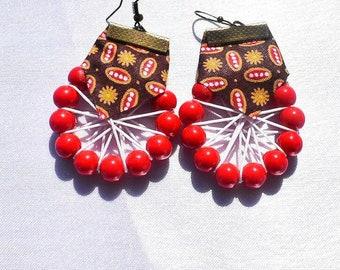 Original African wax fabric earrings