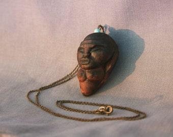 Tribal necklace jewelry avocadostone