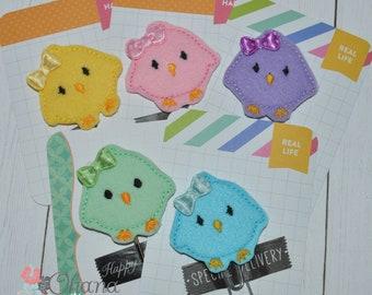 Chick Planner Clip | Baby | Kawaii | Easter | EC | Feltie | Felt | Erin Condren | Paperclip | Paper Clip | Inkwell | Kikki | Filofax | Plum
