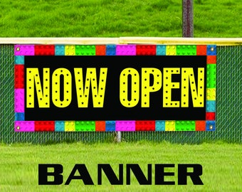 Now Open Promotion Open Store Shop Retail New Business Banner Sign