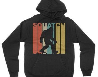 Retro 1970's Style Squatch Bigfoot Sasquatch Hoodie