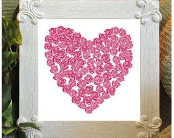 Instant Download cross stitch heart