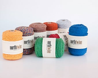 Single Color Twine - 12-ply, with 12 different colors!