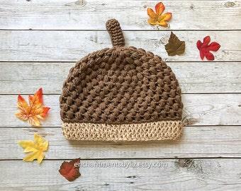 Crochet Acorn Beanie