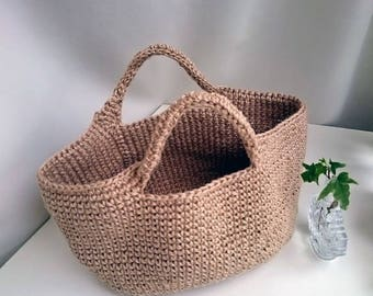 Hemp bag Oval bottom