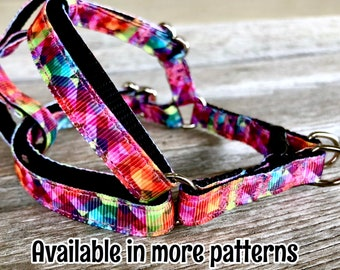 "3/8"" Abstract & Geometric Harnesses, XXS Step-In Dog Harness, Xs Dog Harness, Harness for Boy, Girl, Aztec Harness, Kaleidoscope Harness"
