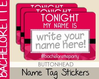 10 Bachelorette Party Name Tags - Bachelorette Name Tags Stickers