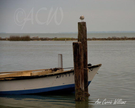 Boat Bow of a traditional Apalachicola Oyster Boat (canvas)
