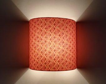 Applique wall half circle shapes geometric pink/coral