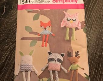 Simplicty Pattern 1549 - stuffed animals