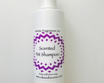 Custom Scented Pet Shampoo, Fragrances from A - F