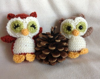 Autumn Owls; crochet animals