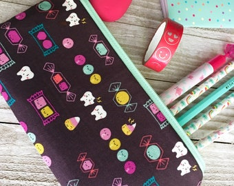 Zipper Pouch Pencil Case - Sweet tooth