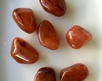 Nice Carnelian Stone, Reiki, Feng Shui, Tumbled Carnelian