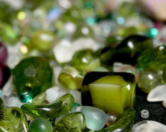 Glass and Lucite Bead Grab Bag