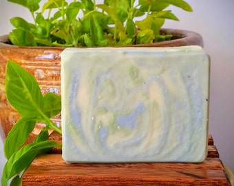 Peppermint Spearmint Soap - Homemade Soap, Natural Soap, Vegan Soap, Handmade Soap, Cold Process Soap, Gifts for Him, Gifts for Her