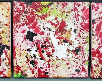 painting colorful abstract painting, Red painting, painting red abstract painting, painting painting on canvas