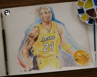 Kobe Bryant Watercolor dessin