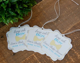Little man baby shower favor tags, Bow Tie baby shower favor tags, Tags for baby shower favors boy, Boy oh boy baby shower, Bowtie