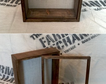 14x17 Shadow Box - Extra DEEP Display Case, 4 inches Deep, Rustic Shadowbox | Artisan Rustic Collection
