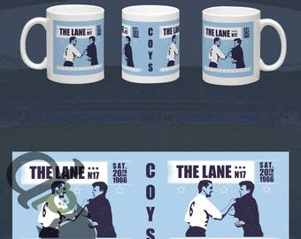 Dave & Billy - 11oz standard size mug  - Iconic encounter between Dave Mackay and Billy Bremner - Tottenham