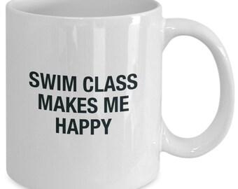 Swim instructor gifts - happy - coffee cup mug gift