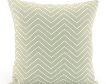 Tan Taupe Chevron Throw Pillow COVER Ecru Decorative Cushions Couch Pillow Bedding ALL SIZES Beach Cottage Pillow Ecru White Chevron Patio